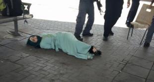 Gadis Palestina korban penembakan tentara Israel di kota Afula. (youtube)