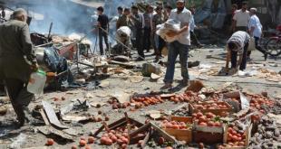 Serangan pesawat Rusia di pasar rakyat di Suriah. (alaan tv)