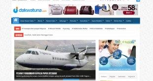 Cuplikan tampilan halaman depan dakwatuna.com, 1 Januari 2015. (dakwatuna.com/hdn)