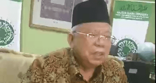 Ketua Majlis Ulama Indonesia, KH. Ma'ruf Amin. (JPRMI)