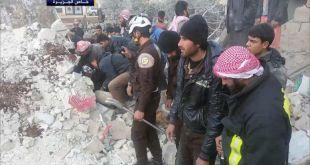 Salah satu bangunan di Suriah porak poranda akibat perang. (felesteen.ps)