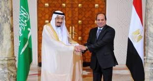 Pimpinan Kudeta Mesir, As-Sisi dan Raja Arab Saudi, Salman Abdulazis dalam pertemuan di Kairo. (okezone.com)