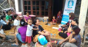 Sosialisasi program hemat air di RT 4 RW 2 Kampung Kedung Bolang, Desa Muara, Kecamatan Teluk Naga, Kabupaten Tangerang. (Eka/Putri/PKPU)