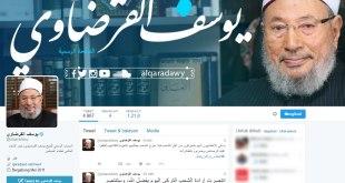 Cuplikan akun Twitter Syaikh Yusuf Qardhawi. (twitter.com/alqaradawy)