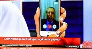 Via video call ponsel, Erdogan menyerukan rakyat Turki turun ke jalan melawan kudeta, Sabtu (16/7/2016).