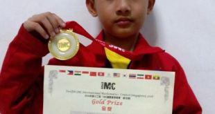 Lutfi Bima Putra, Siswa MIN 9 Jakarta peraih medali emas pada ajang International Mathematics Competition (IMC) di Singapura. (kemenag.go.id)