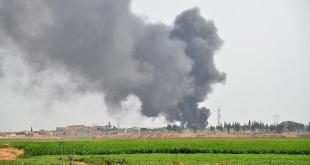 Nampak asap dari serangan artileri Israel ke perbatasan Jalur Gaza. (aa.tr.com)
