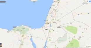 Tidak adanya peta Palestina pada Google Maps. (maps.google.com)