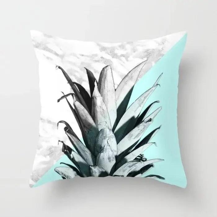 blue green marble texture throw pillow case cushion covers