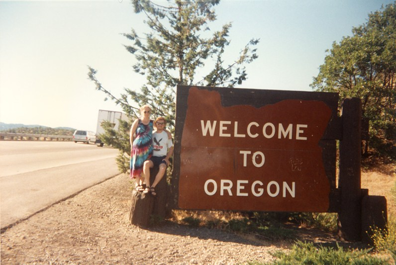 Crossing over into Oregon, leaving California for good