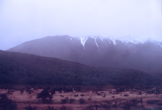 Diffuse view of the Southern Alps