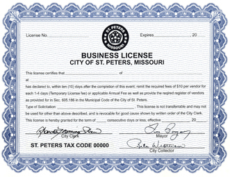 Business License Certificate