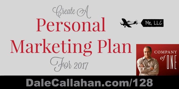 Develop a Personal Marketing Plan