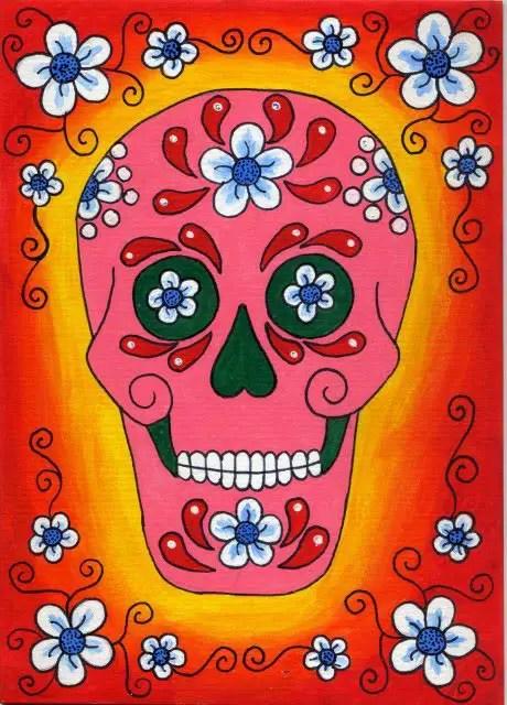 Imgenes ilustraciones y dibujos para Da de Muertos