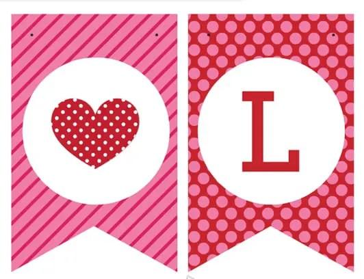 Banderines para san valent n dale detalles for Decoracion de pared para san valentin