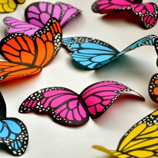 C mo hacer mariposas de papel dale detalles - Mariposas para decorar ...