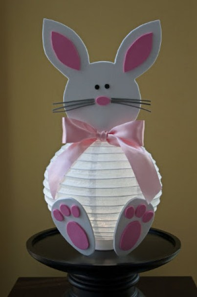 Lamparas de papel conejo