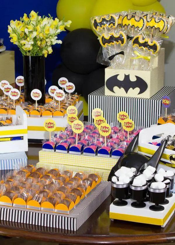 Matrimonio Tema Marvel : Baby shower batman dale detalles