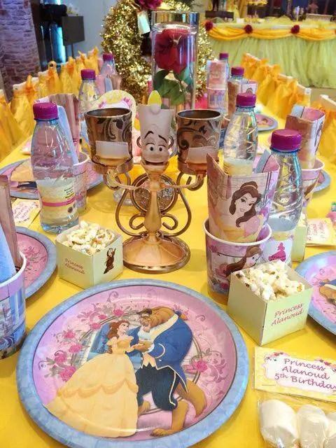 Fiesta tem tica bella y bestia dale detalles for Decoracion de tortas espejo
