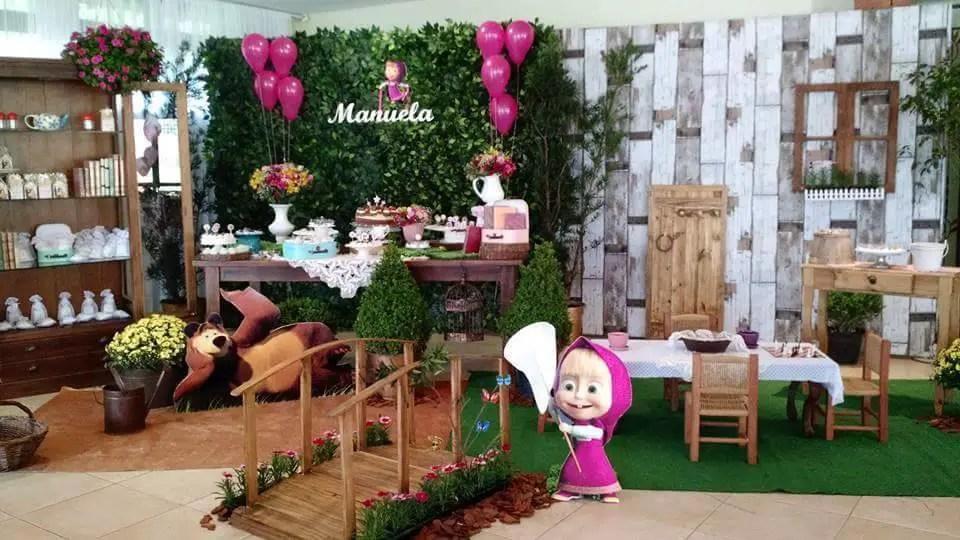 el tema de masha y el oso es una de las ideas para fiestas de cumpleaos que se encuentra en auge para cumpleaos infantiles de nias sin duda