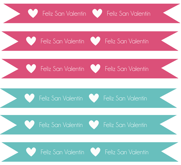 banderitas dia de san valentin