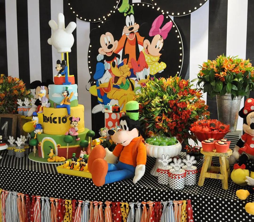 Fiesta tema mickey mouse dale detalles for Mesa de cumpleanos de mickey