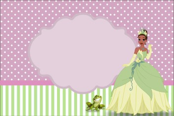 princesa y sapo imprimible gratis