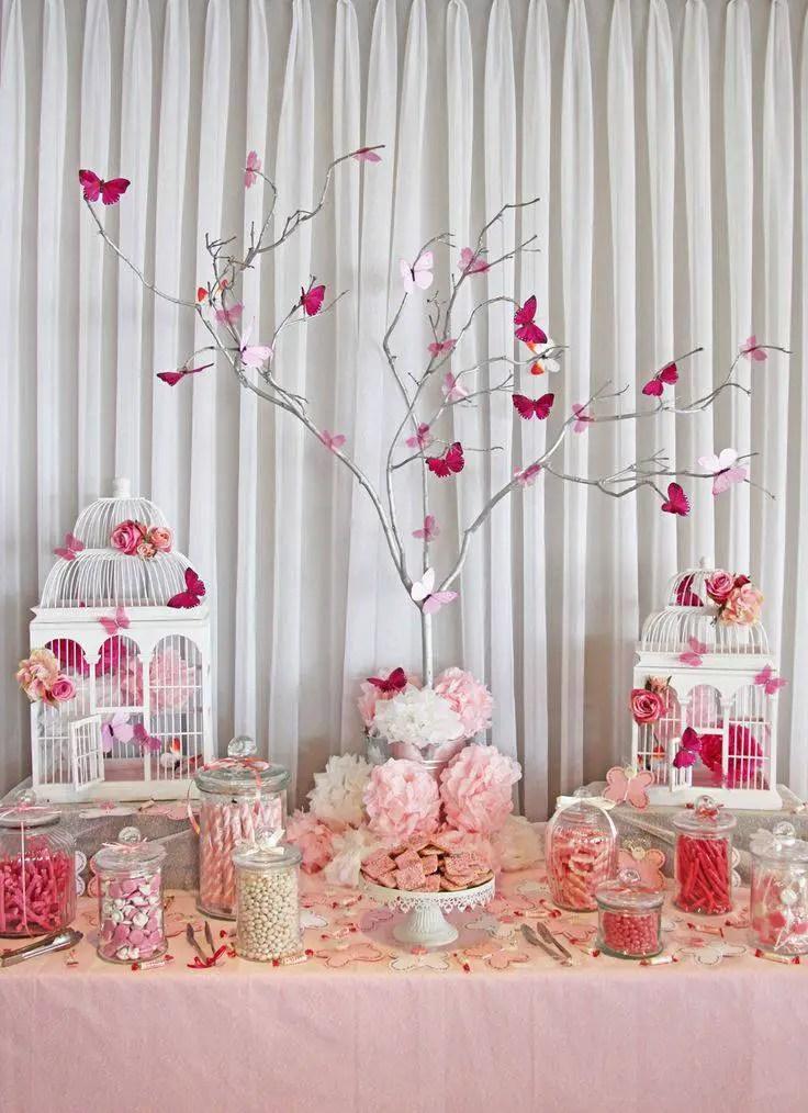 Fiesta tem tica mariposas dale detalles for Decoracion fiesta anos 60