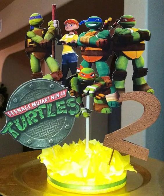 Centros De Mesa Tortugas Ninja Dale Detalles