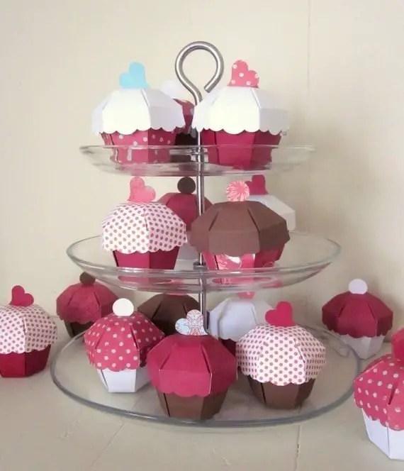 caja con forma de cupcake1