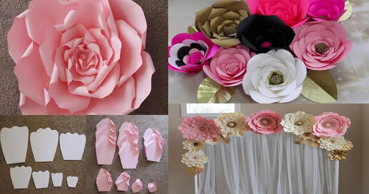 Como Hacer Flores De Papel Gigantes Para Eventos Dale Detalles - Hacer-flores-con-papel