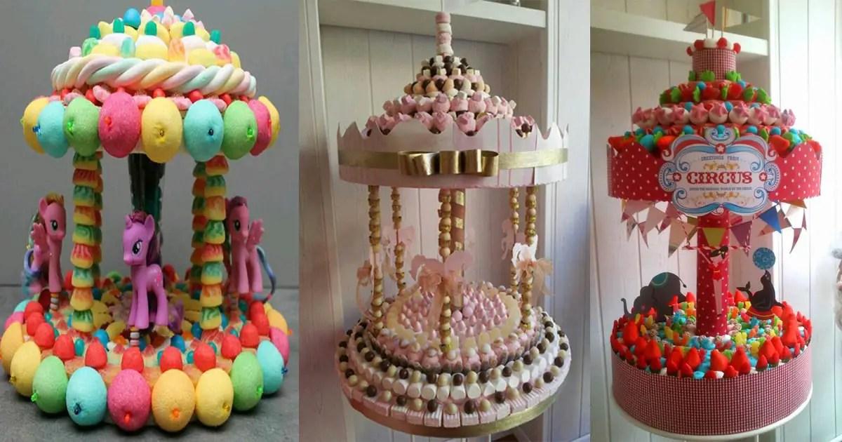 Carrusel con dulces y malvaviscos dale detalles - Golosinas para cumpleanos de ninos ...