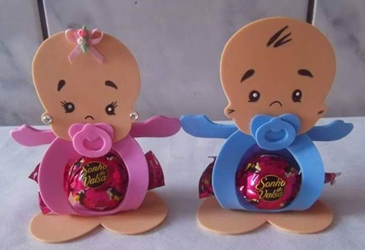 Porta dulces con molde de fomi goma EVA Dale Detalles