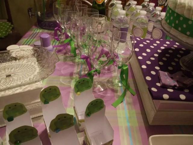 baby shower en tono purpura y verde10