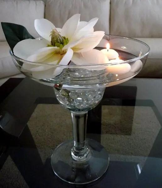 Centros de mesa con copas - Dale Detalles