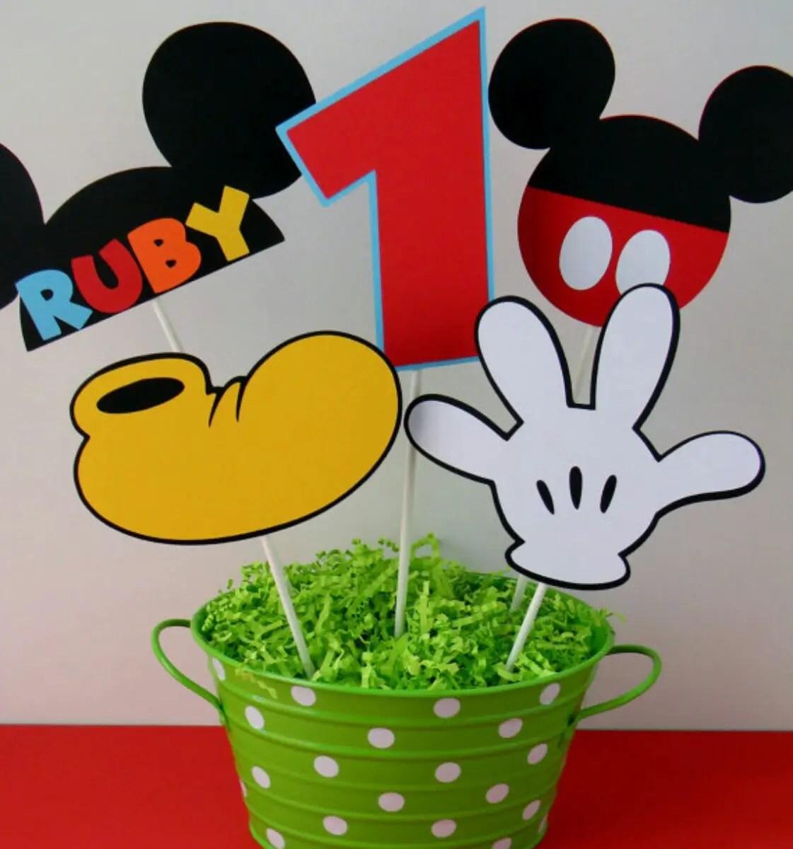 Centros de mesa tema Mickey mouse - Dale Detalles