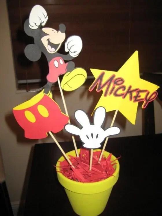 Centros De Mesa Tema Mickey Mouse Dale Detalles