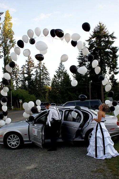decoracion de auto para boda