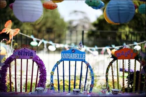 silla infantil decorada