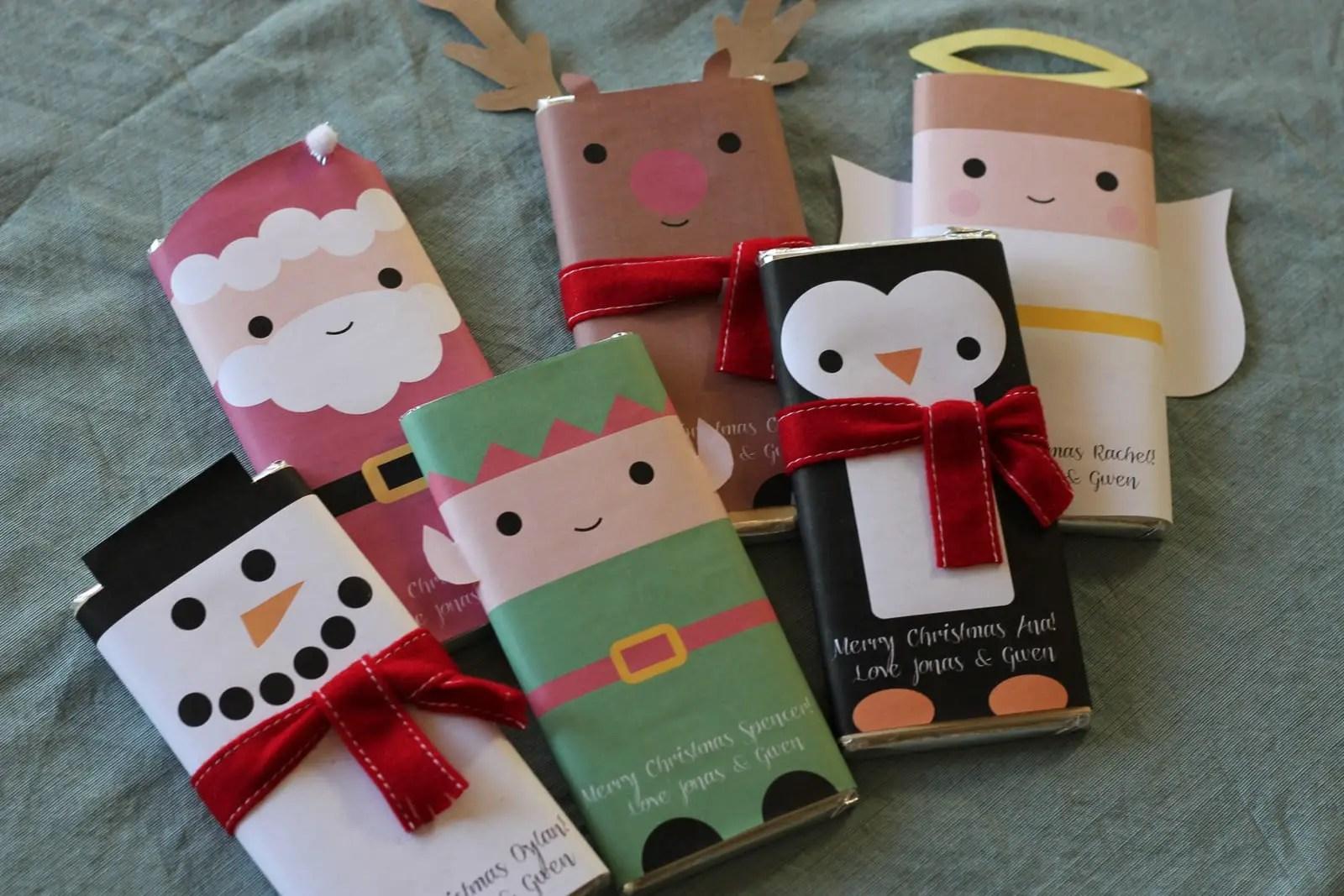Envolturas Navide As Para Chocolates Dale Detalles ~ Ideas Para Regalar En Navidad Manualidades