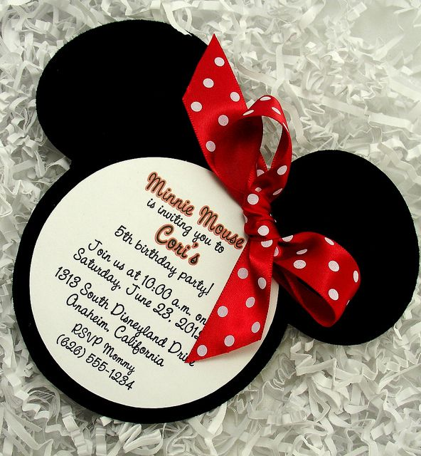 Invitaciones con tema de Mickey y Minnie Mouse - Dale Detalles