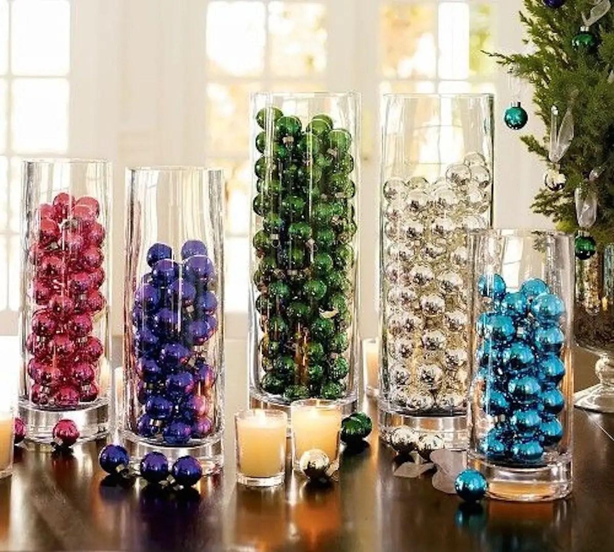 Hermosas ideas para decorar con esferas en navidad dale - Navidad ideas para decorar ...