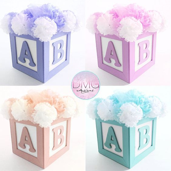 Abc Blocks Baby Shower Decorations