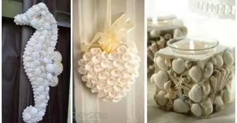 Decoración con conchas marinas y caracoles - Dale Detalles