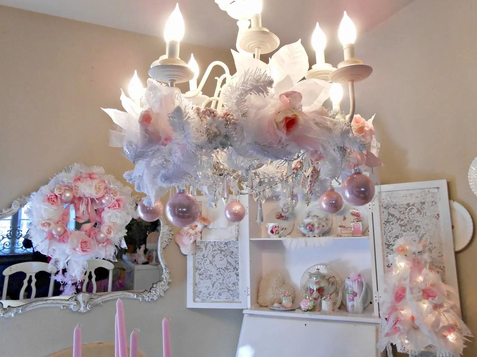 Decoración navideña en rosa - Dale Detalles