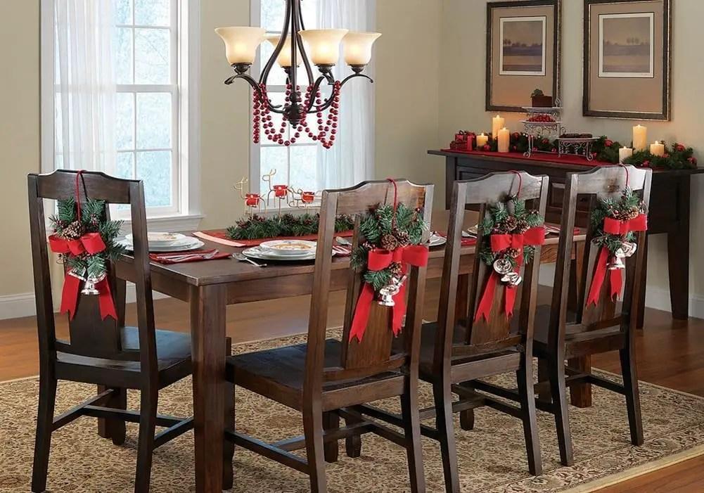 decora las sillas de tu comedor en navidad con estas preciosas