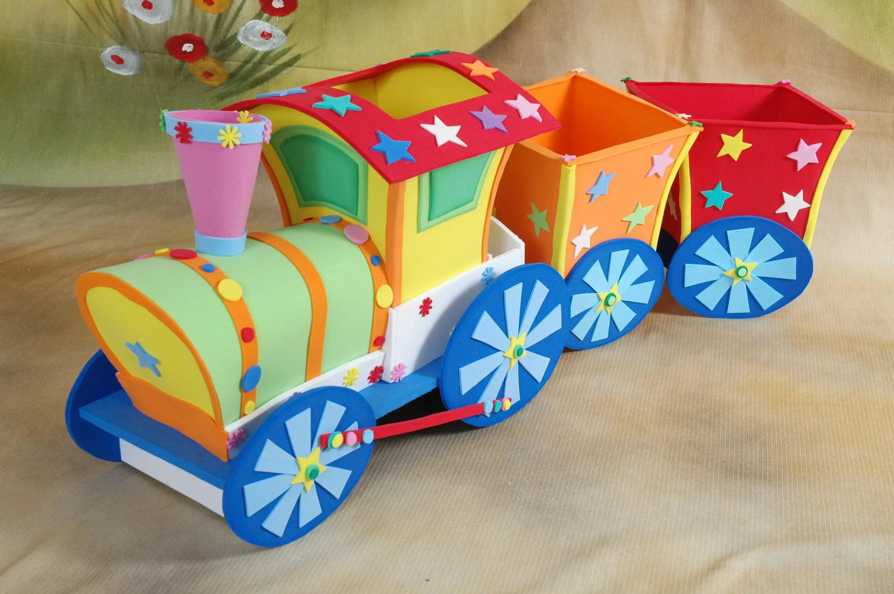 Tren en fomi goma eva dale detalles - Como hacer cuadros de goma eva ...