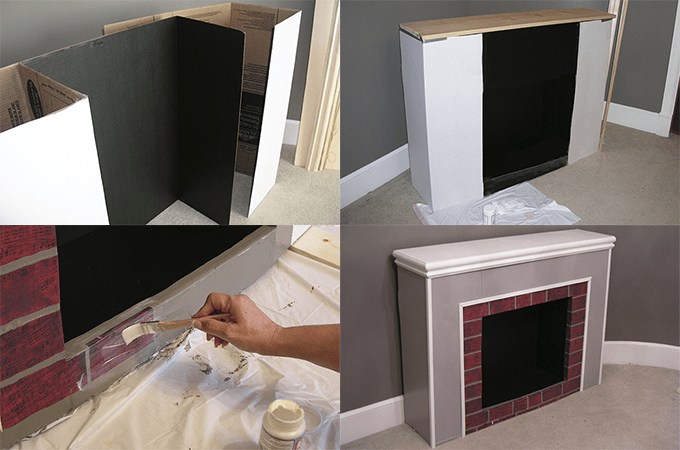 Cómo hacer una chimenea con cajas de cartón - Dale Detalles