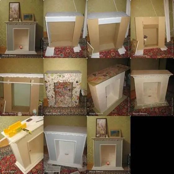 C mo hacer una chimenea con cajas de cart n dale detalles for Como hacer una chimenea falsa
