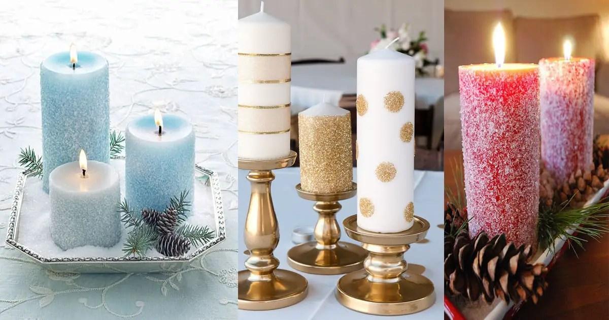 Como Decorar Velas Navidenas Dale Detalles - Como-decorar-una-vela